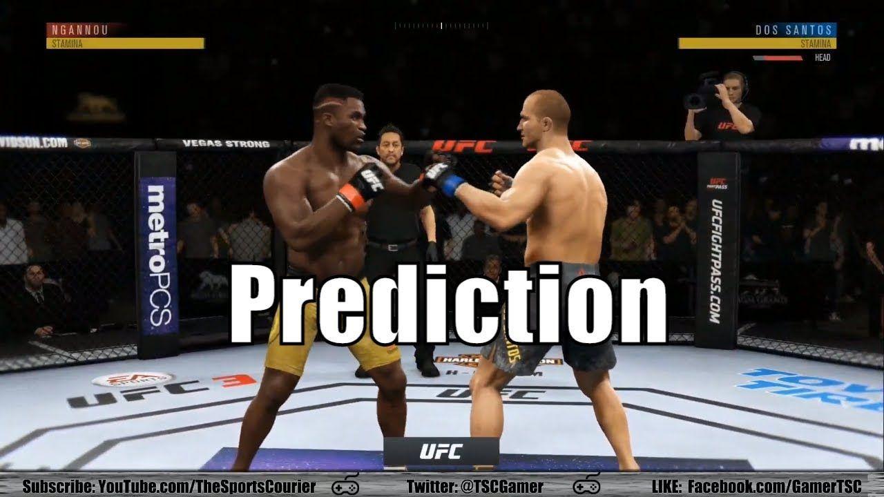 Junior dos Santos vs Francis Ngannou EA UFC 3 Prediction