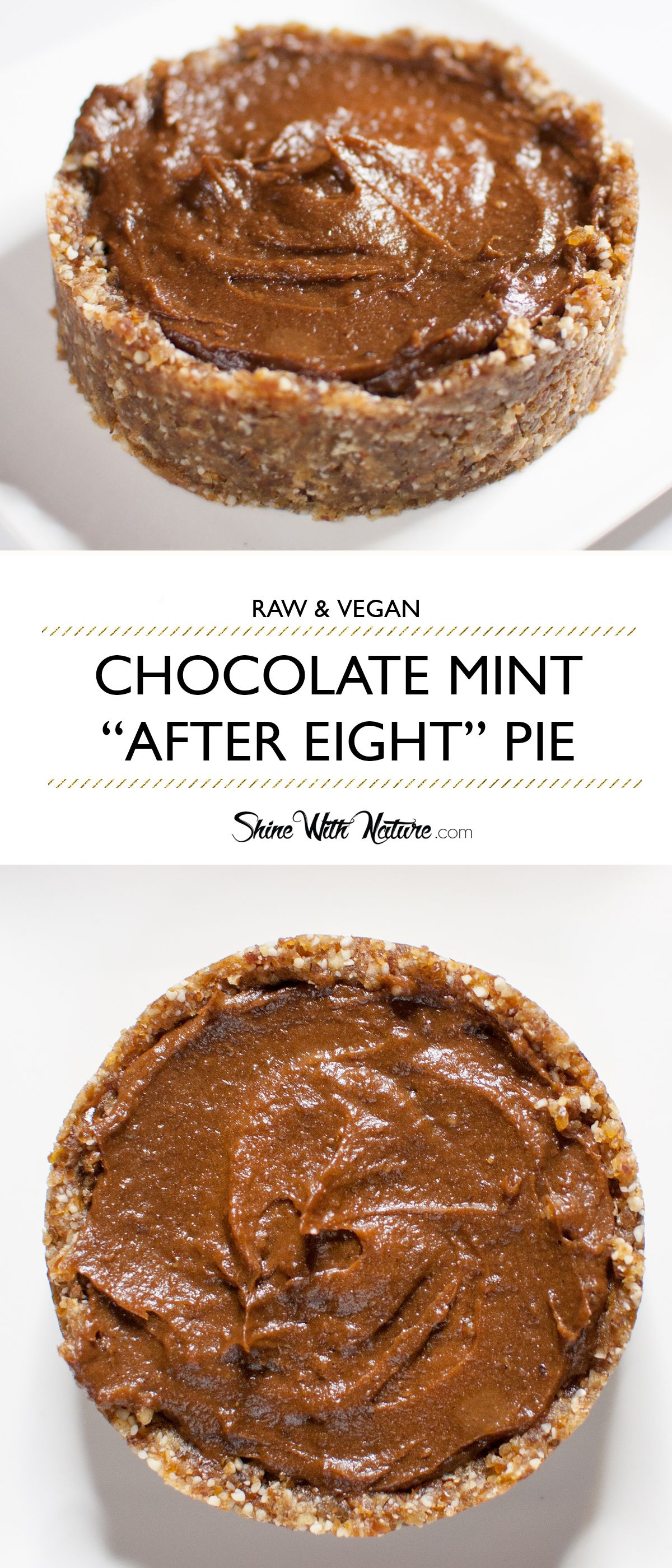 Raw Chocolate Mint After Eight Pie