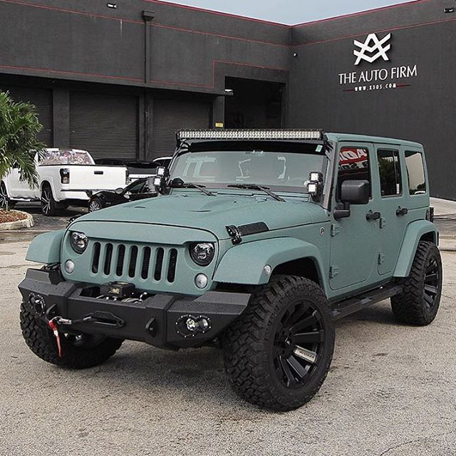 Theautofirm Killed It With This Wrangler W The Custom Rhino Liner Paint Job Done For Team