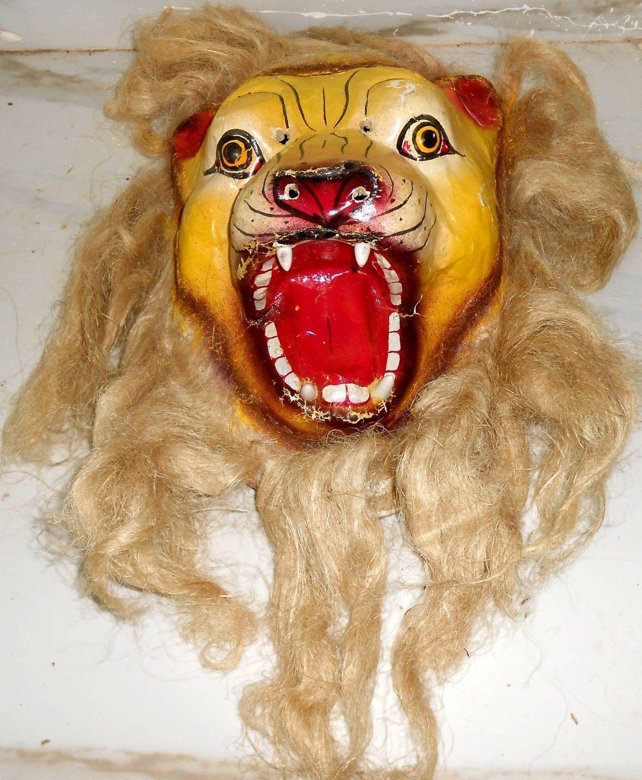 http://www.ebay.com/itm/India-Unique-Paper-Mache-Mask-Lion-Yellow ...