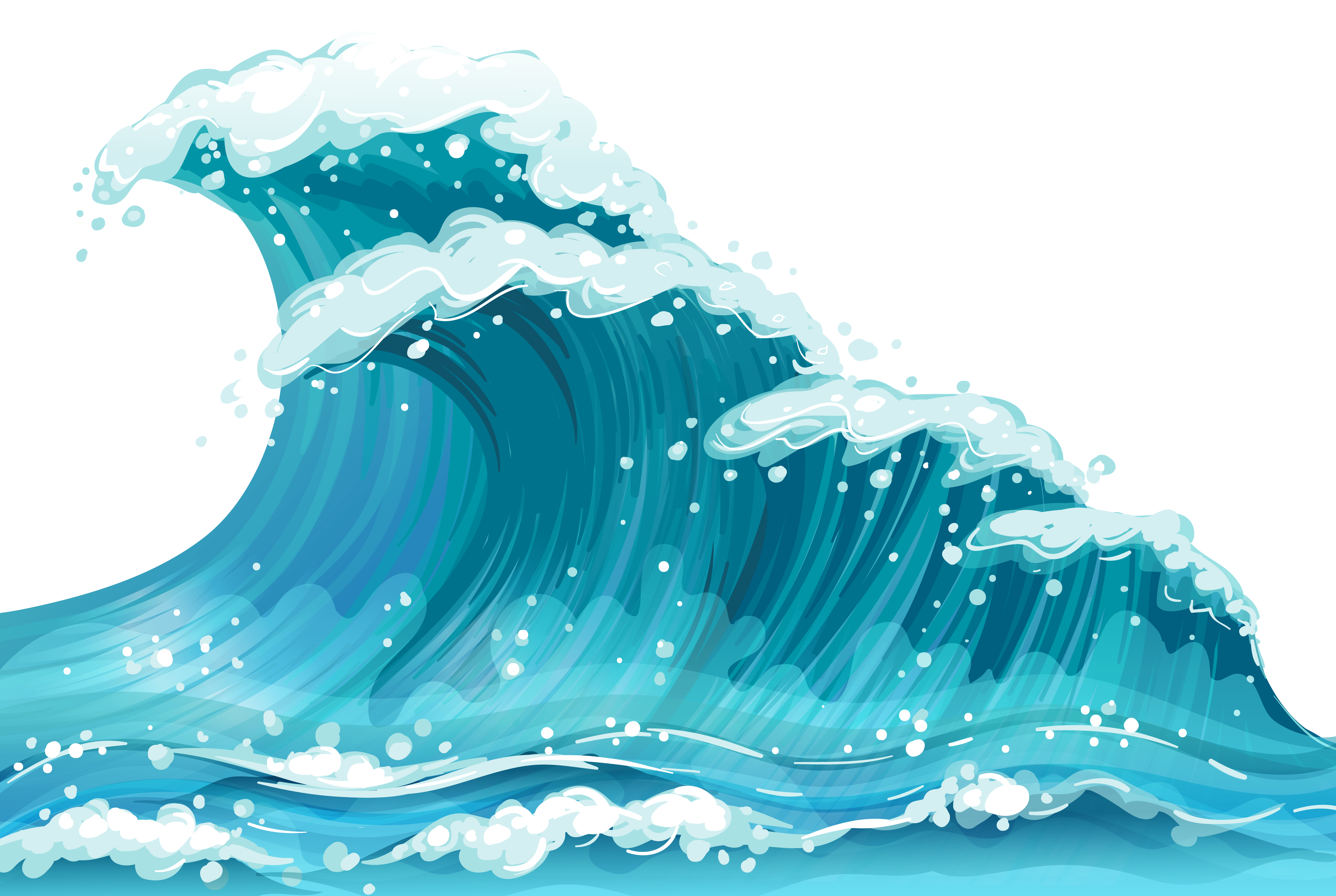 Sea Wave Ground Png Clipart Waves Cartoon Wave Clipart Clipart Gallery
