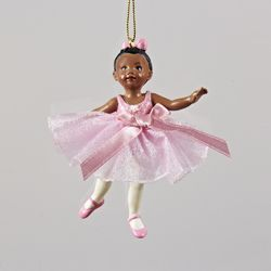 Pack of 12 African American Little Ballerina Dancer Christmas Ornaments 3.25 - 31104435 #africanamericanhair