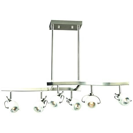 Focus Collection 6 Light Satin Nickel Track Fixture Style 8v663