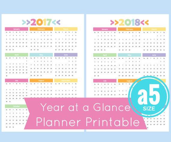 Year Calendar At A Glance : A year at glance calendar