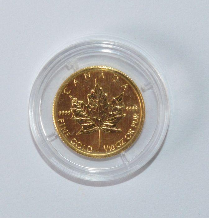 Australië - 5 Dollars 2009 'Maple Leaf' - 1/10 oz goud  Australië. 5 Dollars 2009 'Maple Leaf' Goudgehalte 9999/1000 gewicht 1/10 oz.Zie afbeeldingen voor een eigen indruk.Aangetekende verzending 50-1481Deze aanbieder heeft wekelijks /- 500 veilingitems.Bekijk het aanbod: http://ift.tt/2oHdPWf  EUR 124.00  Meer informatie