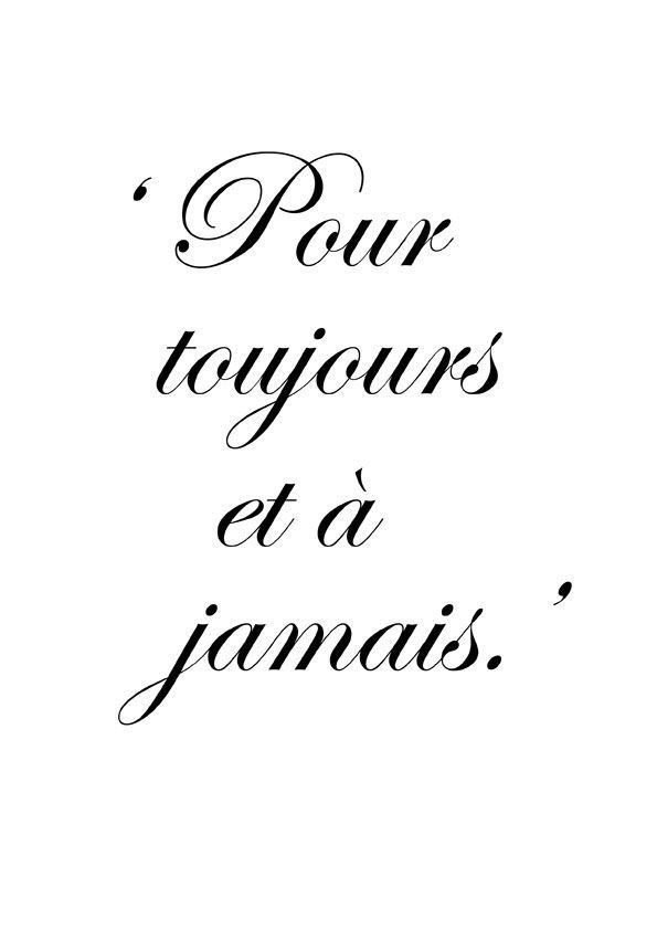 """French Love Quotes Forever And Always  """"quotes""""  Pinterest  Tattoo Language And"""