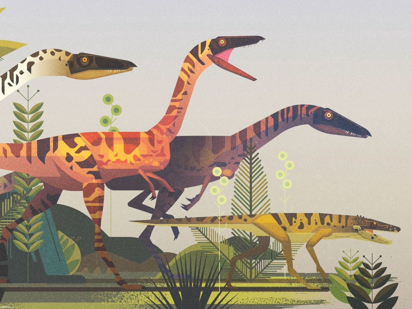 Lovely Illustrations of the Month — December 2018 #dinosaurillustration