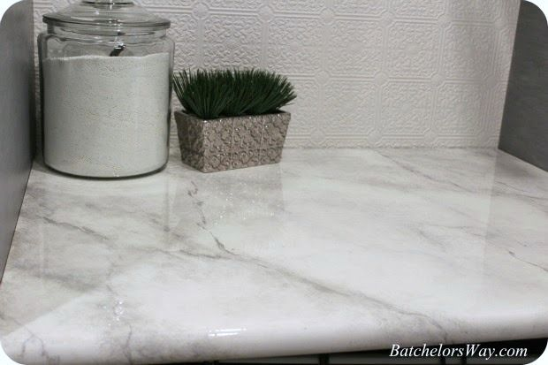 DIY Fake Marble Countertops For Under 30 Bucks! You'll Be Surprised By the Results! paint diy easy cheap budget1
