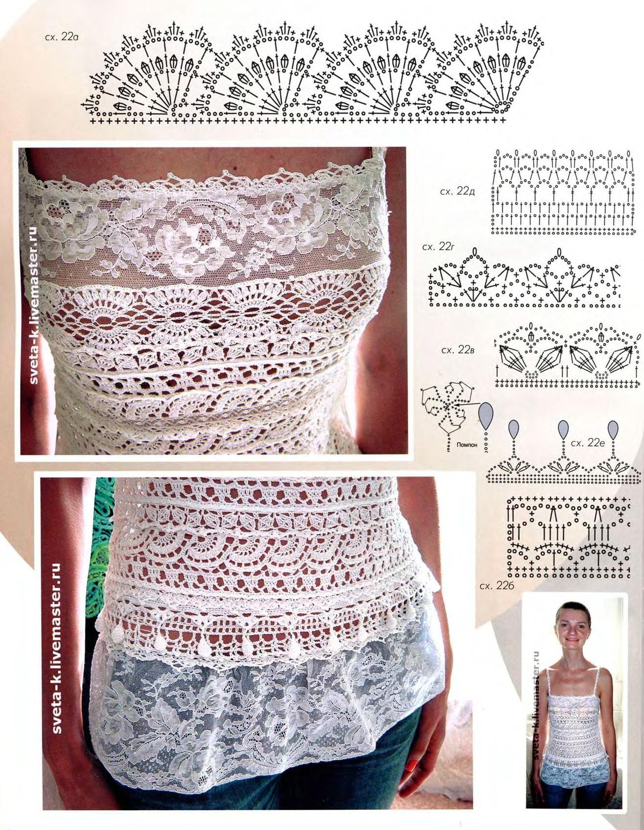 Camisetas de crochet con patrones | SexyCrochet.COM | lana, hilo ...