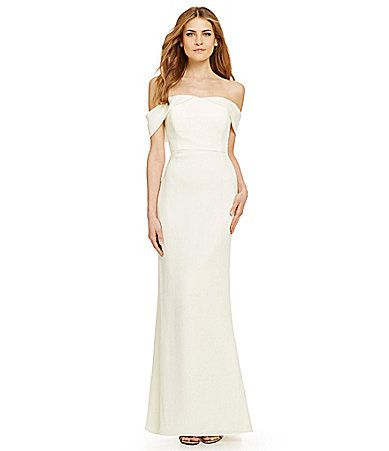 Calvin Klein Offtheshoulder Sheath Gown Dillards