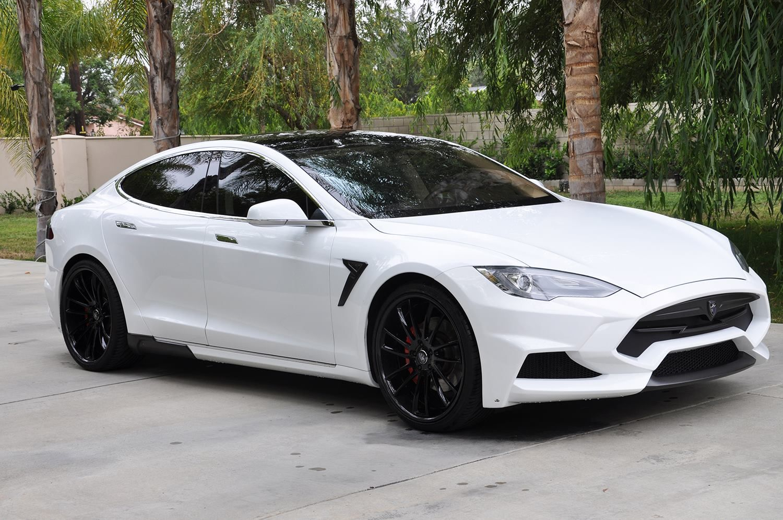 White Elizabeta Tesla Model S By Larte Design Is Stunning Soulsteer Tesla Model S Tesla Model Luxury Cars