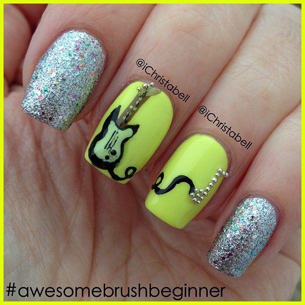 Les Paul Nails | nail art | Pinterest | Diseños de uñas, Demonios y ...