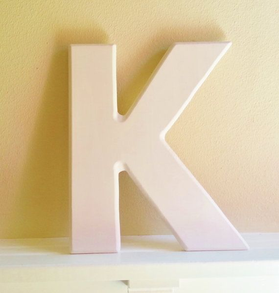 Large Letter K Wall Decor from i.pinimg.com