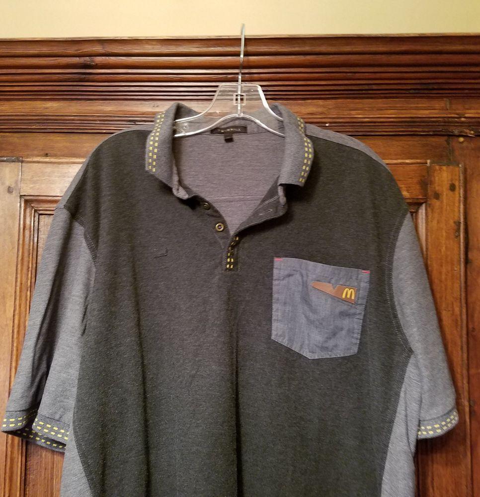 779005504 McDonalds Uniform Shirt Twin Hill Employee Polo Size XL X-Large Unisex  #TwinHill