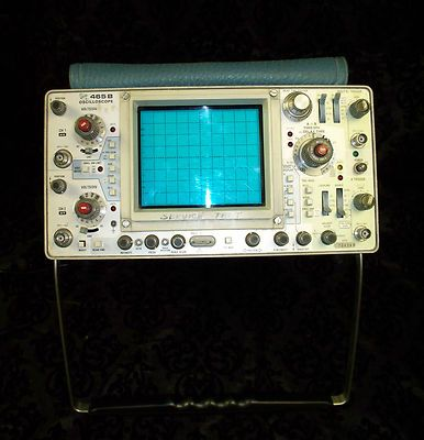 TEKTRONIX 465B DUAL TRACE 100MHz OSCIILOSCOPE w/ 2 PROBES N GREAT CONDITION