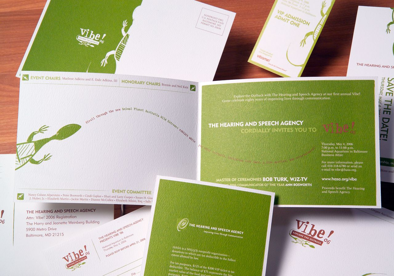 The Hearing Amp Speech Agency Vibe 06 Event Collateral