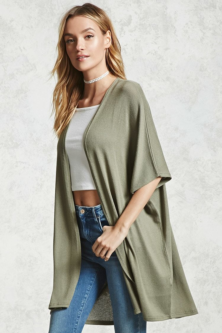 e5d70bbf6d A knit cardigan featuring a longline silhouette