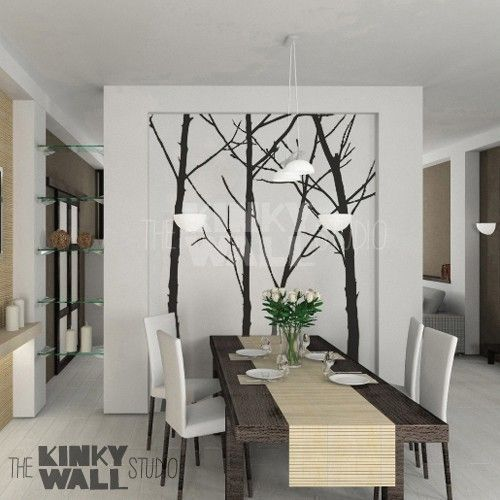 Love The Vinyl Trees Antigas Pinterest Vinyl Wall Stickers - Wall stickers for dining roomdining room wall stickers home design ideas