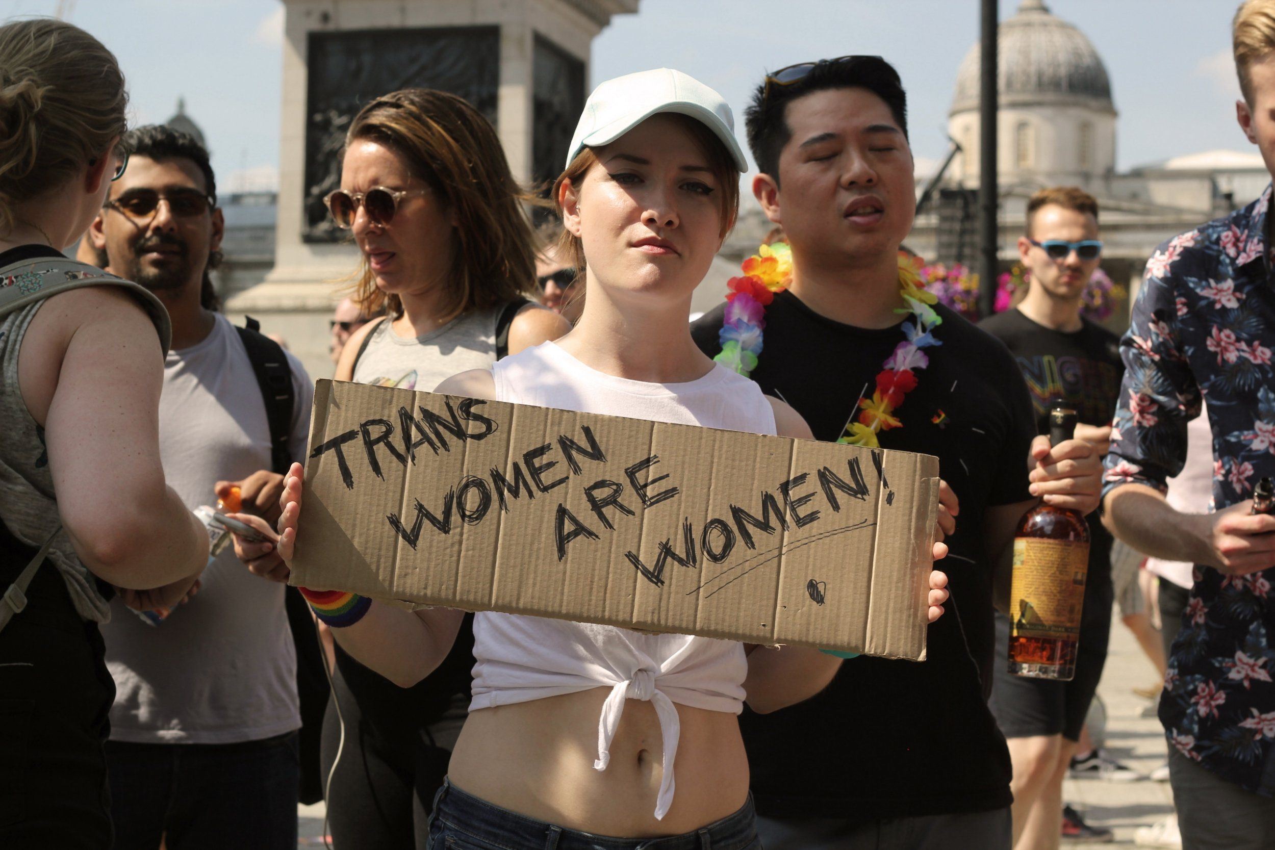 Prominent Lbgt People Come Together To Condemn Anti Trans Protesters At London Pride Trans Woman London Pride Pride