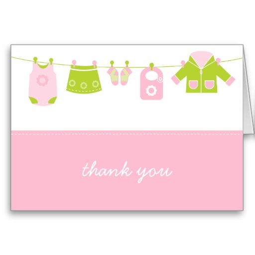 {it's a girl!} little laundry thank you card