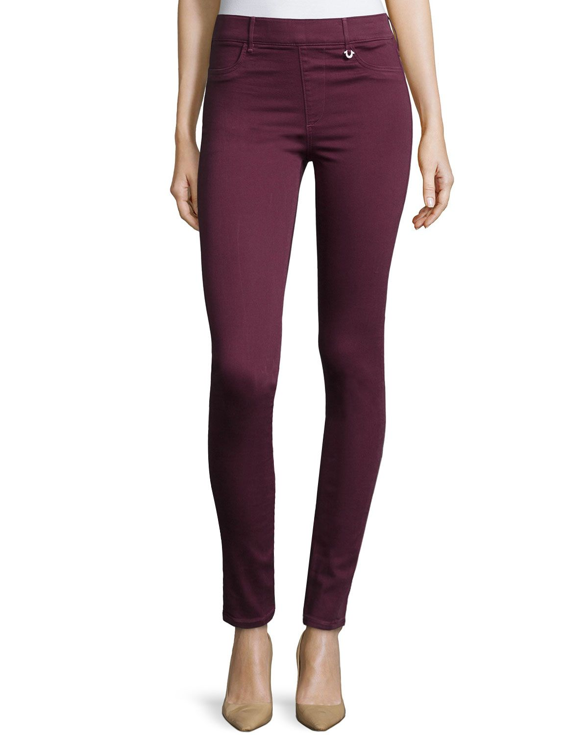 True Religion Runway Mid-Rise Cropped Leggings, Orpheum, Boy's, Size: MEDIUM