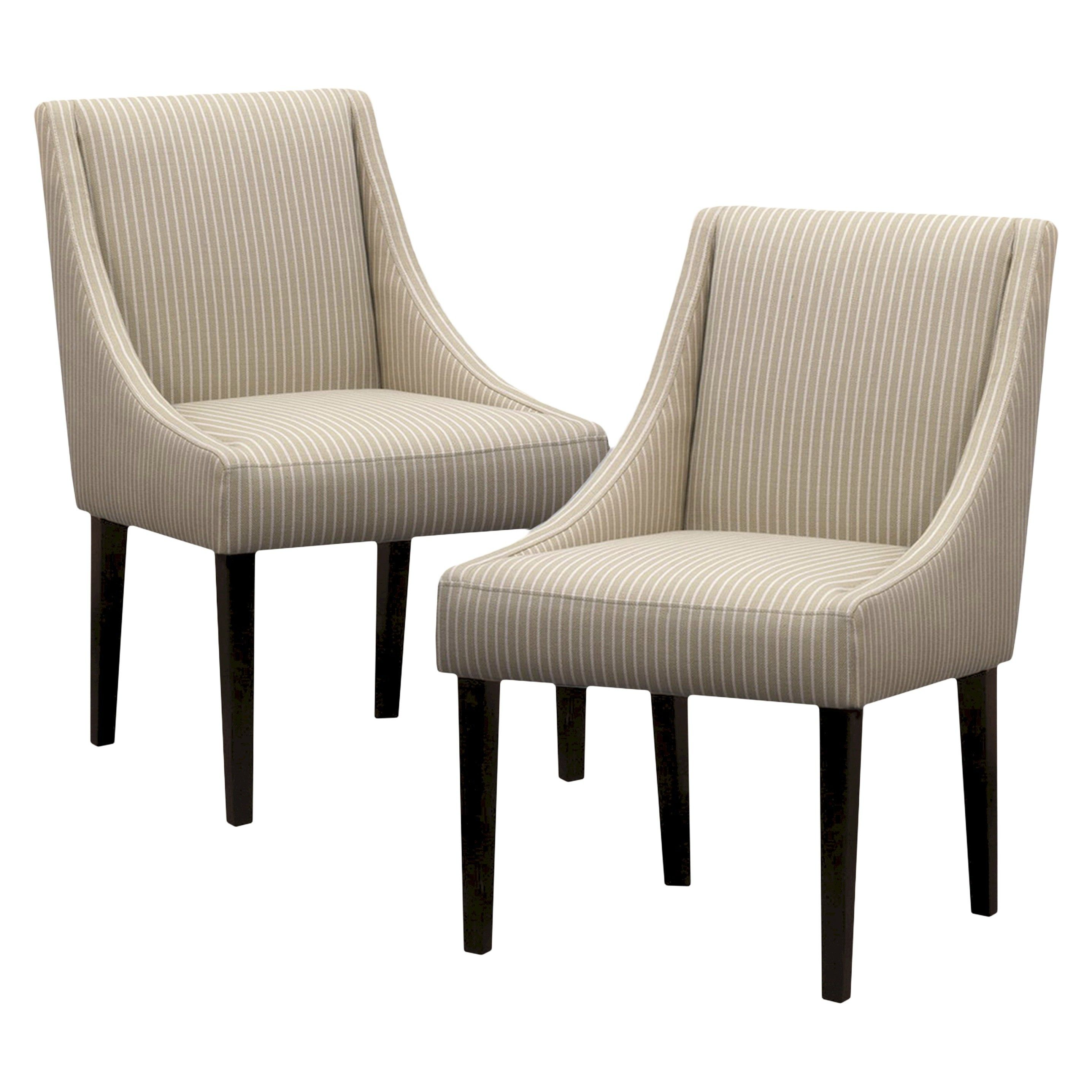 Griffin Dining Chair Taupe Stripe (Set of 2) Target