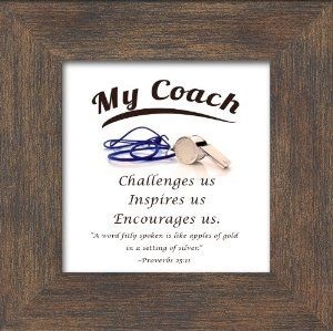 """Amazon.com - Coach Appreciation Saying Framed Gift 3.5"""" X 3.5"""" with Built in Easel"""