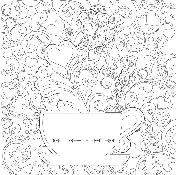 tea cups coloring pages adults - Google Search | Tea party ...