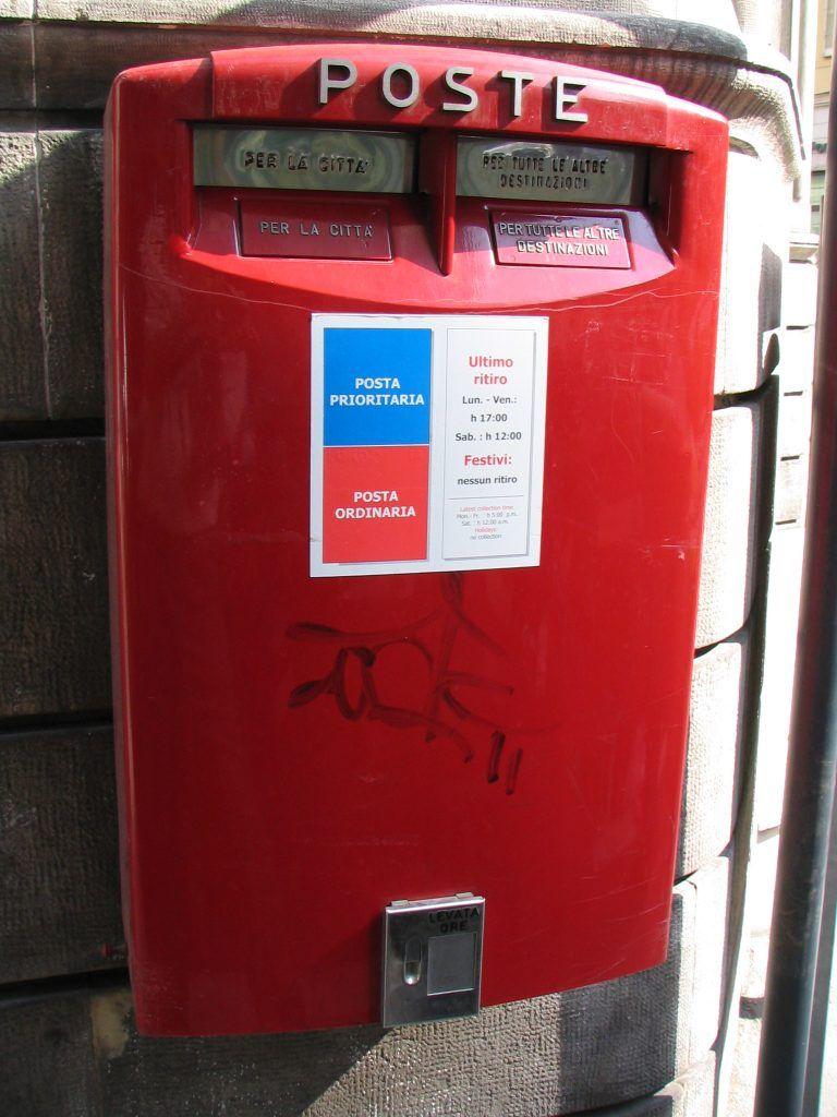 The Italian Mailbox Italy From The Inside Italian Box Italy