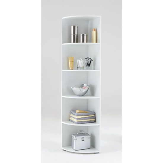 This Wonderful Yet Multipurpose White Display Unit With Five Compartments That Is Just Perfect For Keeping Your Esse Wooden Corner Shelf Shelves Corner Shelves