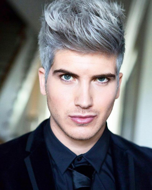 Faded Black And White Combined Joey Graceffa Mens Haircuts Short Hair Highlights