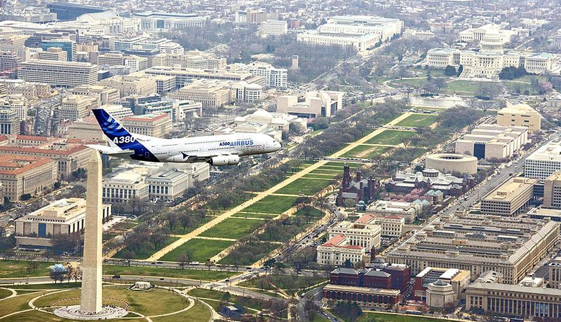 A380 route proving Washington DC