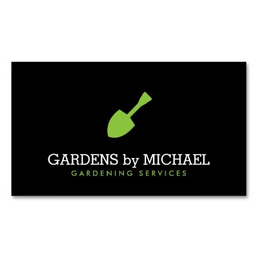 Green garden shovel gardening landscaping services business card green garden shovel gardening landscaping services business card accmission Image collections