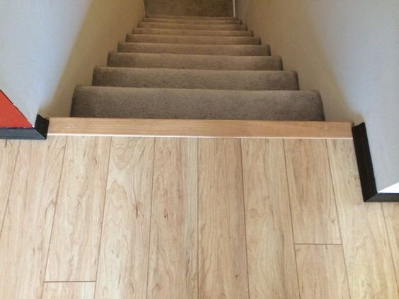 Tile Floor Transition Ideas Stairs Diy Life Image Results | Tile To Wood Stair Transition | Builder Grade | Upstairs | Residential | Laminate | Entryway