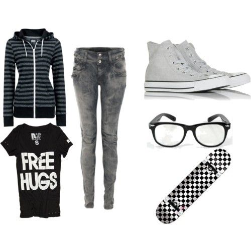 cute skater girl outfits - Google Search on We Heart It