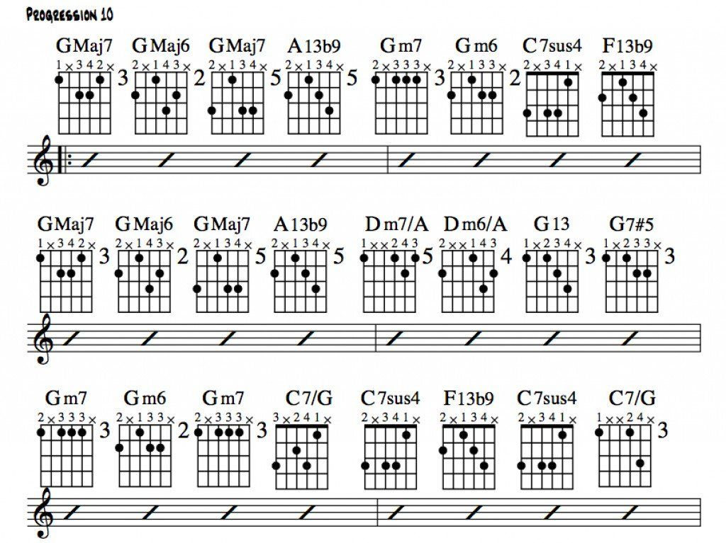 A Standard 3 Chord Blues Progression Reharmonized To Form A Jazz