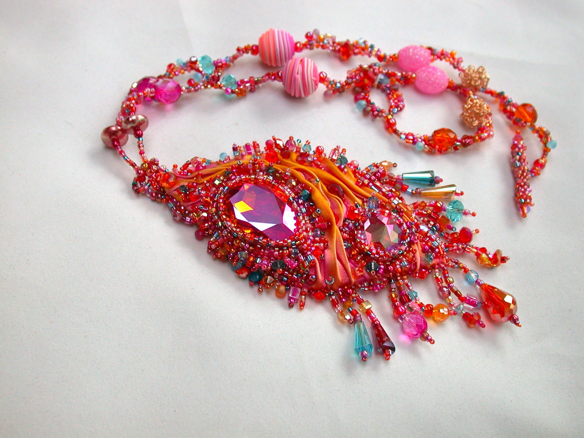 'Phoenix Tears' Companion piece to the Firebird Bracelet. Commissioned, sold