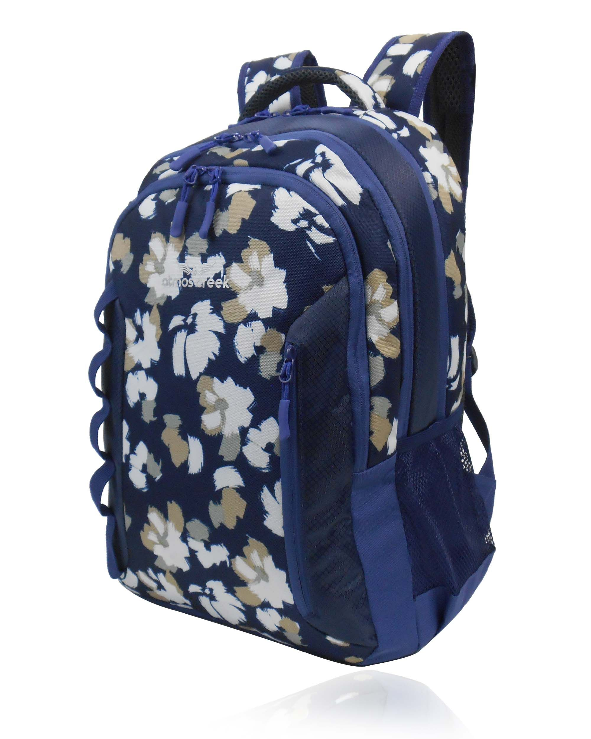 96d19737f This awesome floral printed backpack from Atmos Creek is power packed and  elegant at the same time. Made of extra durable materials and trendy print,  ...