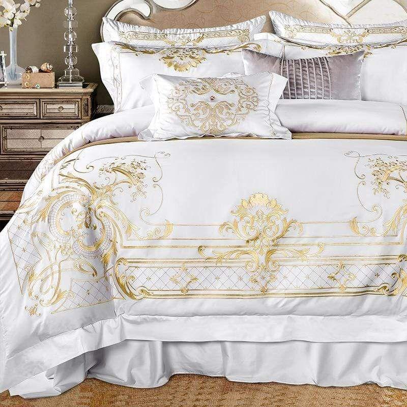 Ivy Gold Forest Duvet Cover Set Egyptian Cotton In 2021 Queen Size Bed Sets Duvet Bedding Sets Queen Bedding Sets