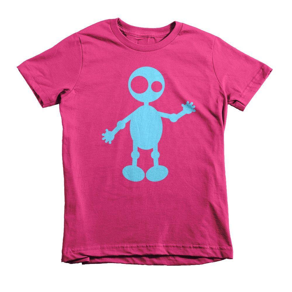 Baby Blue Dotty - Short sleeve kids t-shirt