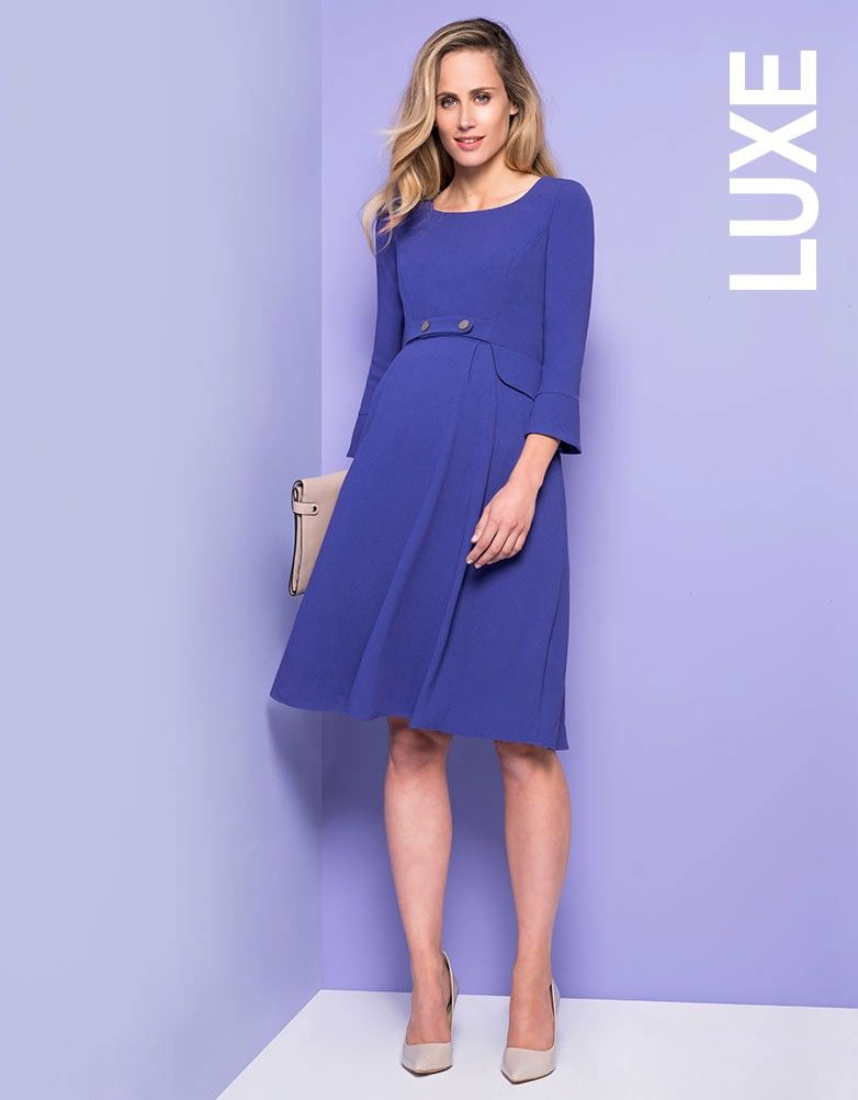 Royal Blue Tailored Maternity Dress In 2019 Clothing Fashion
