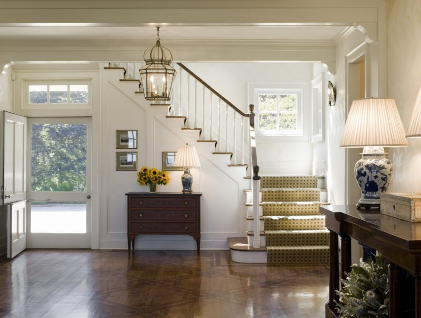Entry Foyer Runner : Runner on stairs thefoodogatemyhomework what a hamptons house