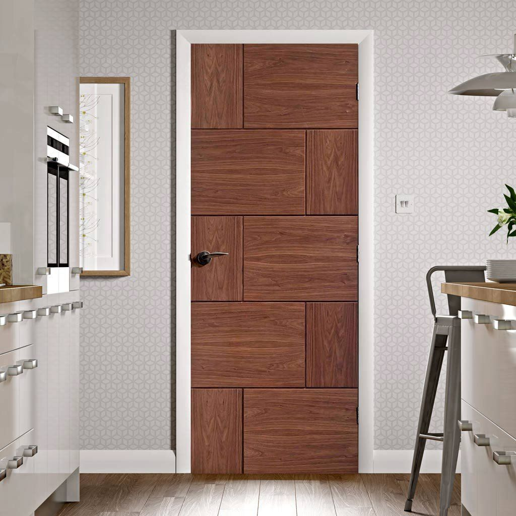 Flush Doors Designs designer laminated flush door Ravenna Walnut Flush Door Prefinished