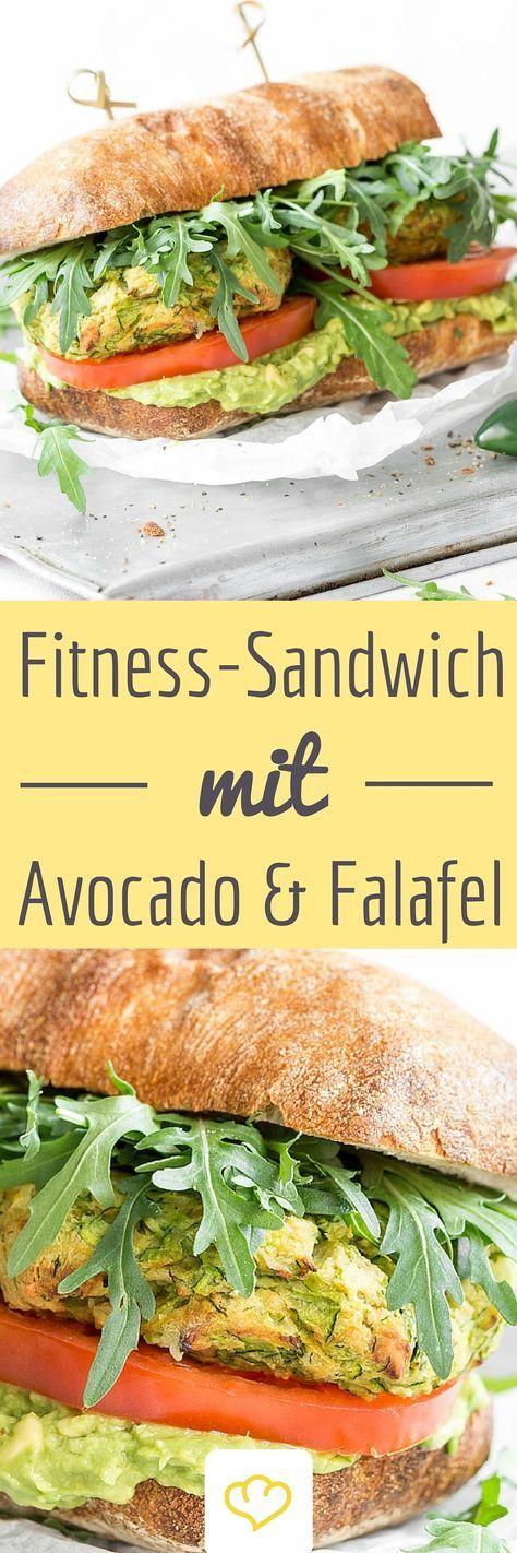 fitness falafel guacamole sandwich rezept food. Black Bedroom Furniture Sets. Home Design Ideas