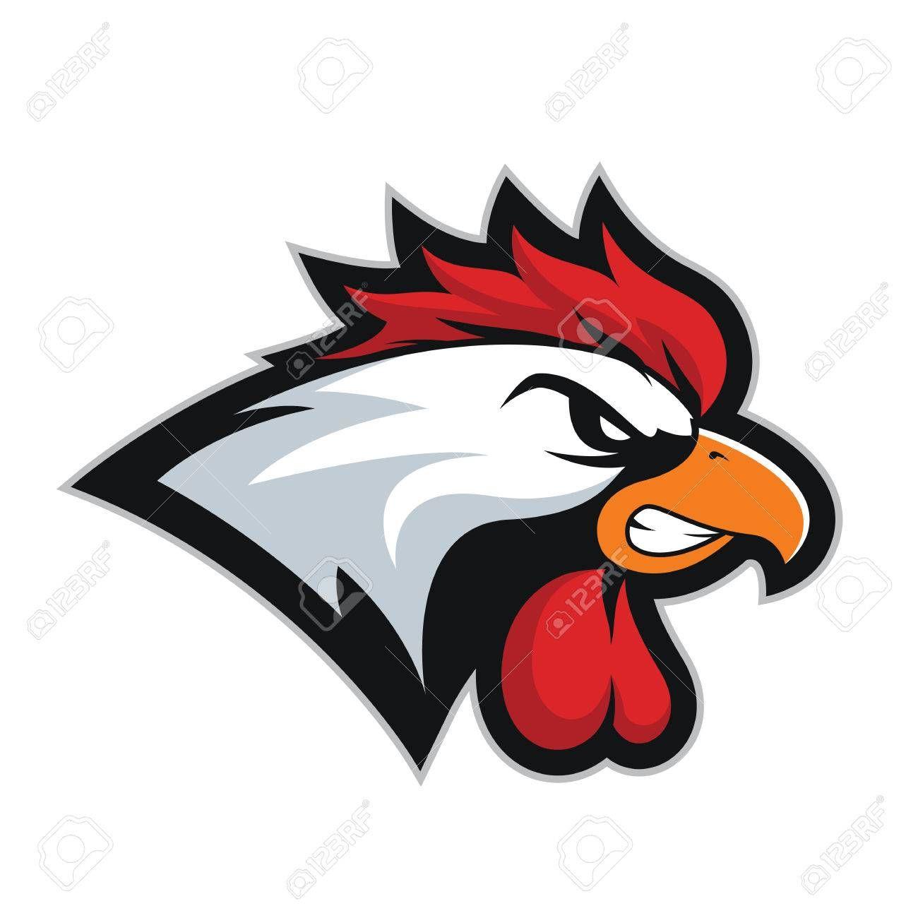 Chicken Rooster Head Mascot 2 Illustration Affiliate Rooster Chicken Head Illustration Mascot Rooster Art Chicken Illustration Rooster