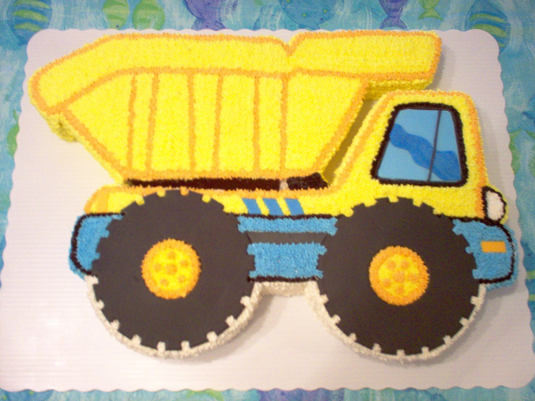 Dump Truck Cake Pattern