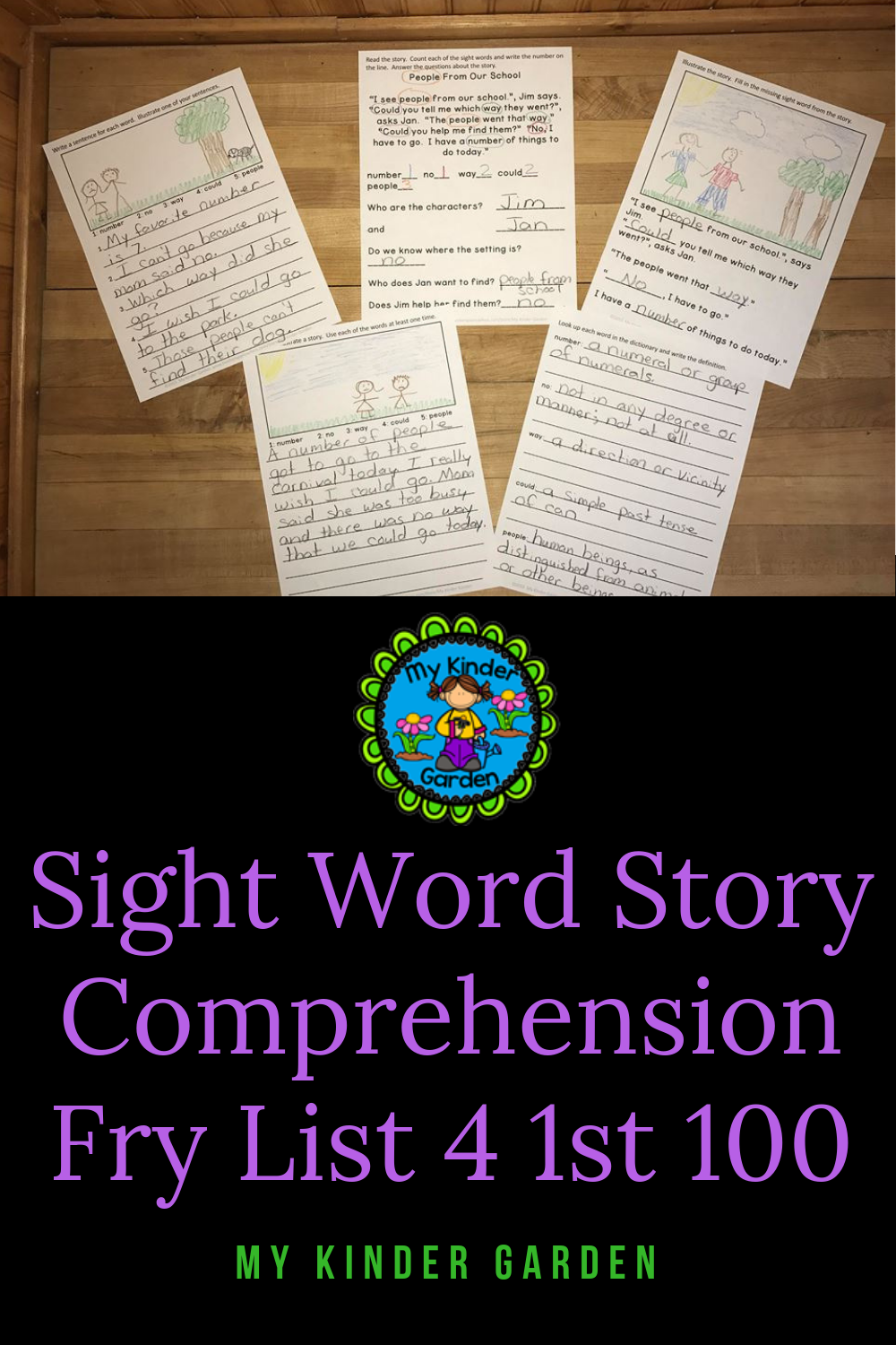 Sight Word Work Story Reading Comprehension Fry List 4 in