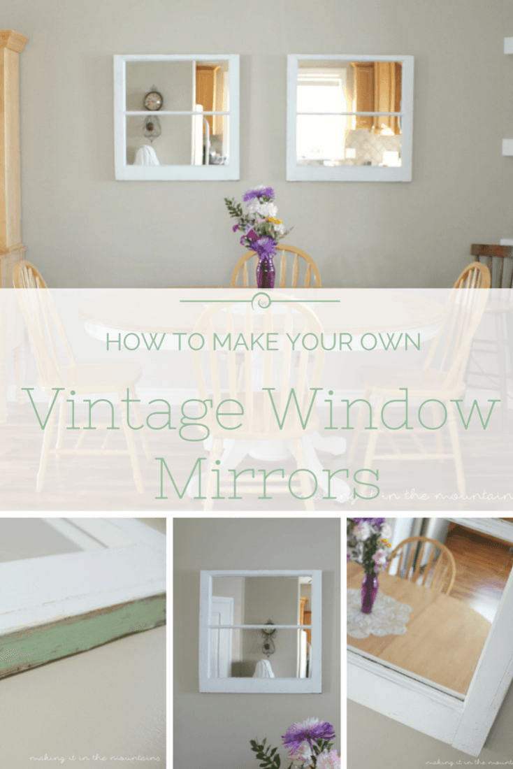 Window decor diy  how to make your own vintage window mirrors  window and vintage