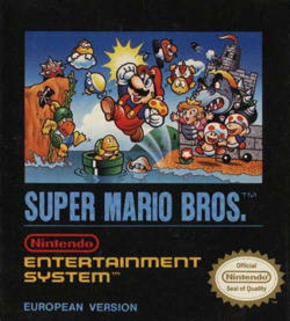 Super Mario Bros Nes Nintendo European Cover Super Mario