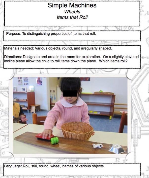 Simple machines  wheels  items that roll